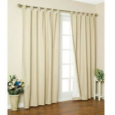 New Thermal Insulated Tab Top Curtains Drapes 80X63 Natural Ivory  2 Panels