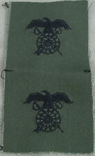 US Army Subdued Cloth Branch Insignia Quartermaster Corps / Pair