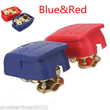 2 Pcs Blue&Red Car SUV Battery Terminals Connector Clamps Quick Release Lift Off