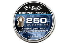 Air rifle Airgun pellets WALTHER COPPER IMPACT 5.5 mm cal. .22 250 pcs. 1.04 g