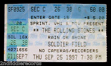THE ROLLING STONES-Original 1997 Concert Ticket-Soldiers Field, Chicago-Jagger