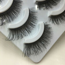5 Pairs Soft Makeup Cross Thick False Eyelashes Eye Lashes Nautral Handmade AR