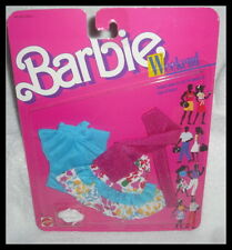 NRFP BARBIE OUTFIT 1988 WEEKEND FASHION COLLECTION  TOP FLOWER SKIRT SCARF SHOES