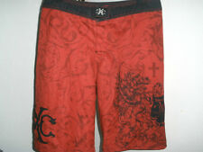Men's Xtreme Couture MMA Red Boardshorts 4-Way Stretch Size 34 Awesome