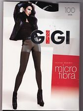 GIGI - COLLANT MICROFIBRE 100 DEN NOIR - TIGHTS - T. 3 MEDIUM - 100% NEUF