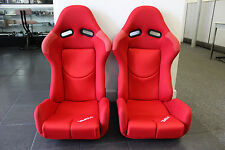 2 SEATS PAIR BRIDE GIAS STYLE CARBON KEVLAR Reclinable Racing Seats w/ Sliders