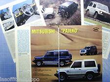QUATTROR988-PROVA SU STRADA/ROAD TEST-1988- MITSUBISHI PAJERO -5 fogli
