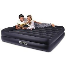 Intex Pillow Rest Raised Airbed with Built-in Pillow and Electric Pump, Queen...