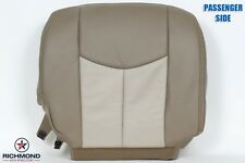 2003-2006 GMC Sierra Denali Truck PASSENGER Bottom Leather Seat Cover 2-TONE TAN