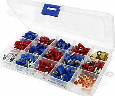 300x Assorted Insulated Electrical Wire Terminals Crimp Connector Spade Box Set