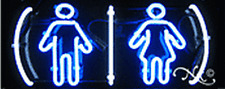 BRAND NEW RESTROOMS LOGO 24x10x3 REAL GLASS NEON BUSINESS SIGN 12145