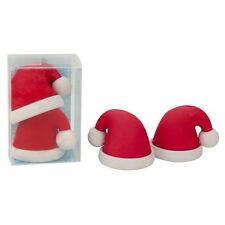 936851 TRENDHAUS Radierer Radiergummi Weihnachten Weihnachtsmütze Mütze 2er Set