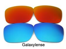 Galaxy Replacement Lenses For Oakley Holbrook Red&Blue Polarized! 2 Pairs