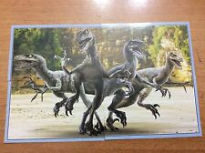 4 FIGURINE ADESIVE JURASSIC WORLD  DINOSAURO  PANINI  lot 74