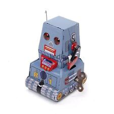 Retro Wind Up Tank Robot Tin Toy Adult Collectible Gift w/ Key