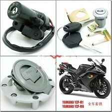 Ignition Switch Gas Cap Cover Seat Lock Key Set for Yamaha YZF R1 R6 1992-2012