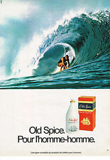 PUBLICITE ADVERTISING 044  1982   OLD SPICE   eau de toilette pour homme
