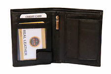 ALW Genuine Leather Money Wallet Purse with card Slots for Men Gents - Black