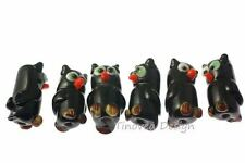 40 Halloween lampwork glass Beads OWL #3 Wholesale Lot