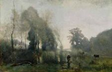 Jean Baptiste Corot 22x32 'Morning at Ville-d Avray' Poster Print