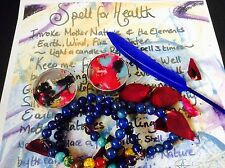 Good Health bracelet Spell kit~~Wicca Magic~TALISMAN~AMULET~wellbeing spell kit