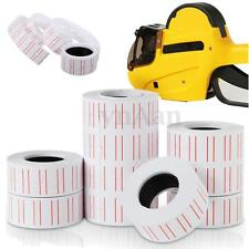 10 Rolls White Red Line Price Gun Label Paper Tag Sticker For MX-5500 Labeller