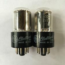 Vintage Pair GE 6SN7GTB (6SN7, B65, CV1988) Valve Tube Lampe Röhre 功放管 test NOS