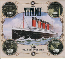 Grenada 2012 MNH Titanic 100 Year Anniversary 4v M/S RMS Sinking Ships Boats
