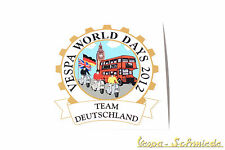 "Dekor Aufkleber ""Vespa World Days 2012"" Team Deutschland Germany VCD London GB"