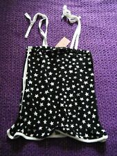 Brand New with Tags H&M cool star cotton print top, size 8 B&W festival top