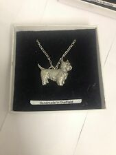 Westie PP-D03 Dog Emblem on Silver Platinum Plated Necklace 18""