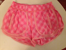 Ivivva by Lululemon Shorts Coral Pink Size 12 Plaid
