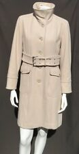 KENNETH COLE Women's Beige Soft Warm Wool Long Belted Coat size M 12 12P