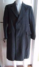 Vintage HART SCHAFFNER & MARX Mens WOOL Herringbone Tweed Long Coat Small Gray