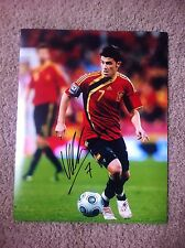 David Villa Autographed 11x14 Photo NYCFC SPAIN Atlético Madrid BARCALONA PROOF