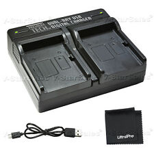 PTD-66 USB Dual Battery Charger For Panasonic DMW-BLC12, DMW-BLE9