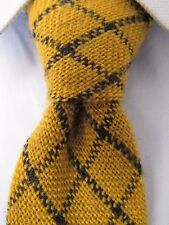 Men's All Wool Yellow Classic Skinny Tie 22132