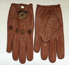 Driving Leather gloves Men's  Orange Brown Cognac Tan