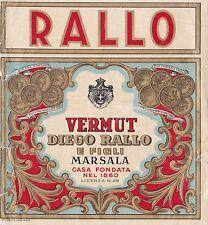 ETICHETTA VINO VERMOUTH DIEGO RALLO E FIGLI MARSALA   2-20