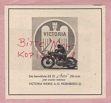 Nuremberg, publicidad 1949, victoria-Werke AG motor-las bicicletas motocicleta Aero 250 ccm