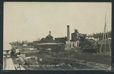 Sharp OR Lebanon RPPC 1910's VIEW of PAPER WOOD PROCESSING MILL Oregon No. 20