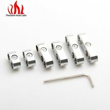Chrome Spark Plug Wire Separators Dividers Looms Fits Chevy Ford Fits 7mm 8mm