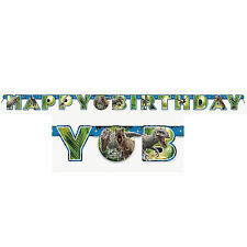 6ft Jurassic World Park Dinosaurs Happy Birthday Party Letter Banner Decoration