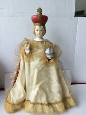 LARGE VINTAGE ANTIQUE  INFANT OF PRAGUE STATUE 13'' CHILD JESUS