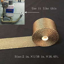 """Titanium Exhaust/Header Heat Wrap, 2"""" x 16.4ft. Roll With Stainless Ties Kit H"""