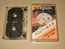 ANTHRAX - Persistence Of Time - MC Cassette tape /2250