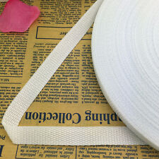 New 5 Yards Length 5/8 (15mm)Wide Nylon Webbing Banding Strapping White