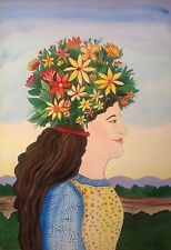 """painting by mexican artist Esau Andrade ( """" flora """" watercolor )"""