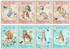 Beatrix Potter Pinks & Blues ~ Card Making Toppers / Scrapbooking / Crafting