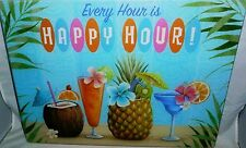 """Glass Cutting Board  EVERY HOUR IS HAPPY HOUR 15 1/2"""" x 11 1/2"""""""
